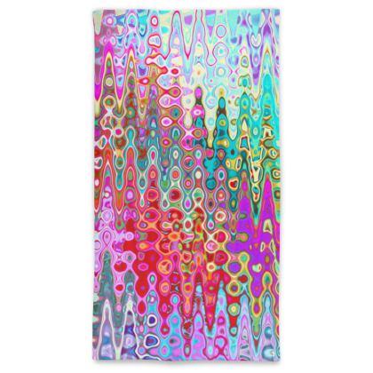 Neck Tube Scarf Rainbow Splashes