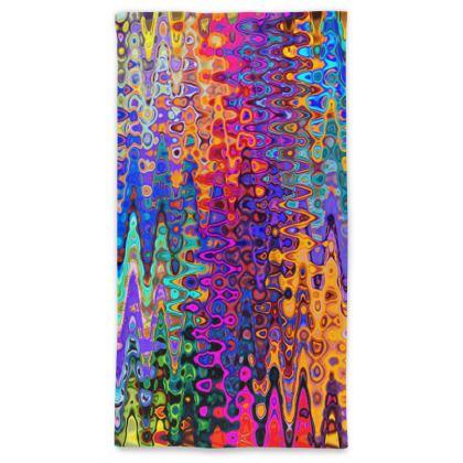Neck Tube Scarf Colorful Splashes