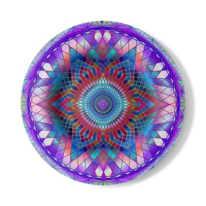 Decorative Plate Purple Snowflake