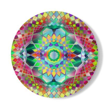 Decorative Plate Green Mandala