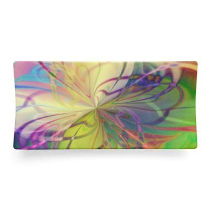 Seder Dish Rainbow Flower