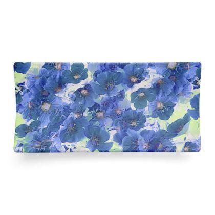 Seder Dish Blue Roses