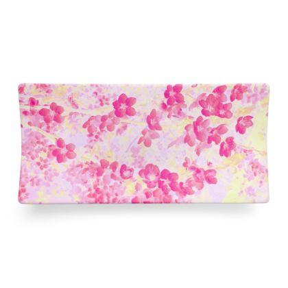 Seder Dish Pink Spring Flowers