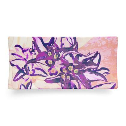Seder Dish Pink Flowers