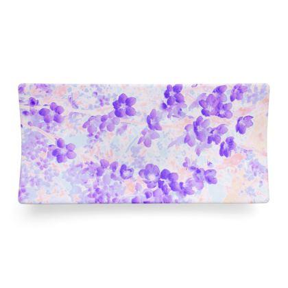 Seder Dish Purple Spring Flowers