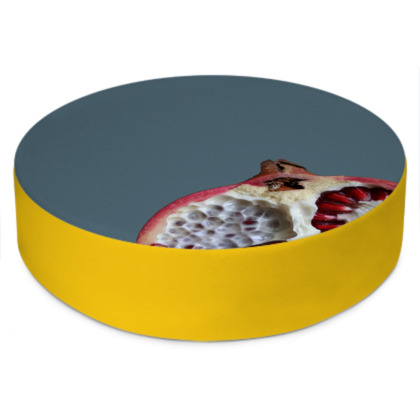 Round Floor Cushion - Pomegranate