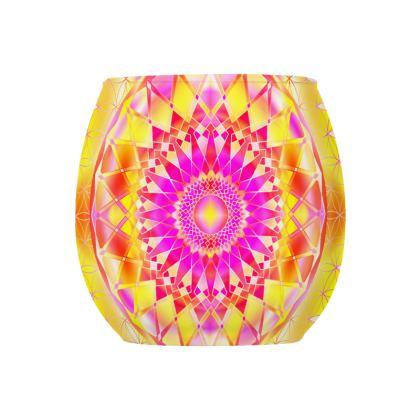 Glass Tealight Holder Yellow Mandala
