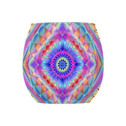 Glass Tealight Holder Blue Mandala