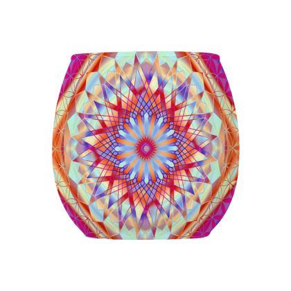 Glass Tealight Holder Amazing Mandala