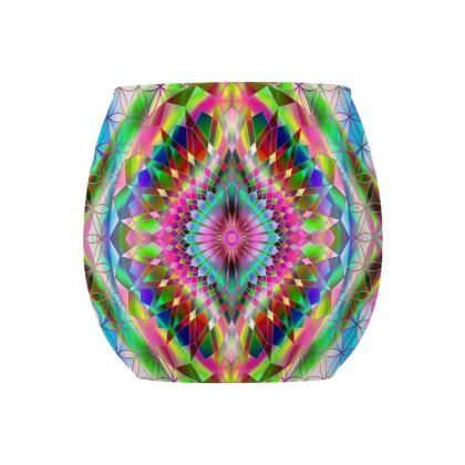 Glass Tealight Holder Mandala