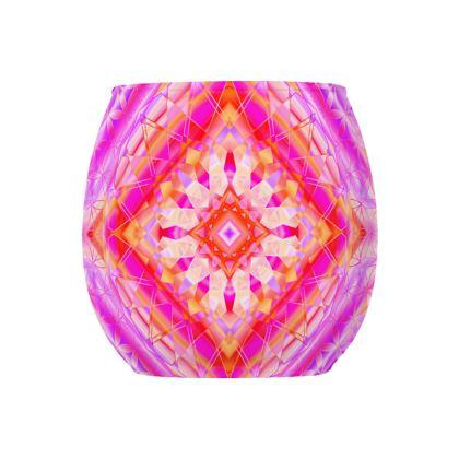 Glass Tealight Holder Hot Pink