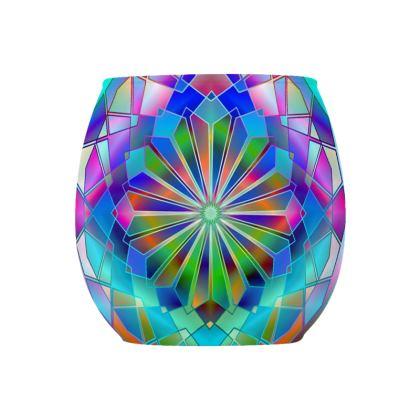 Glass Tealight Holder Beautiful Mandala
