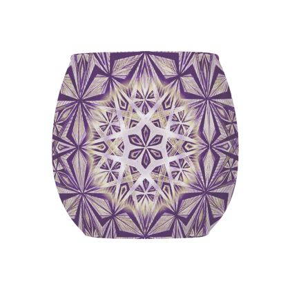 Glass Tealight Holder Mandala Handdrawing