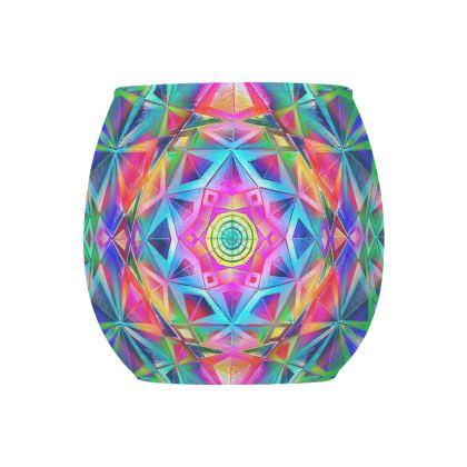 Glass Tealight Holder Mandala Handdrawing 2
