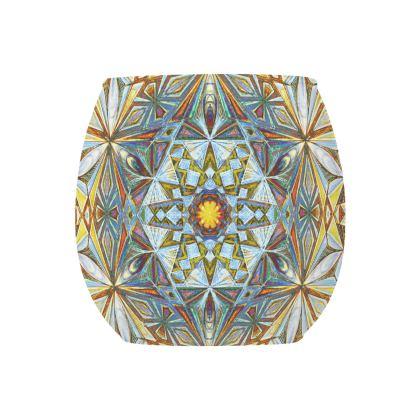 Glass Tealight Holder Kaleidoscope Handdrawing