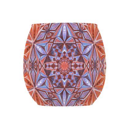 Glass Tealight Holder Kaleidoscope Handdrawing 2