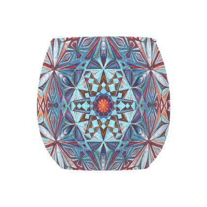 Glass Tealight Holder Kaleidoscope Handdrawing 3