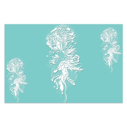 Sarong - Light blue ink