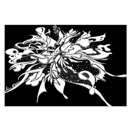 Sarong - ink black and white