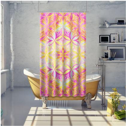 Shower Curtain Kaleidoscope Flower Of Life