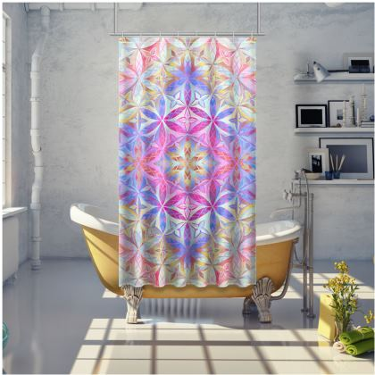 Shower Curtain Kaleidoscope Flower Of Life 2