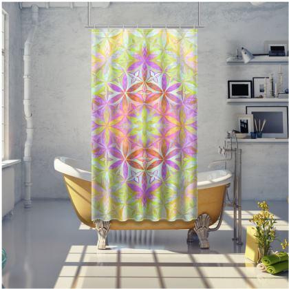 Shower CurtainKaleidoscope Flower Of Life 1