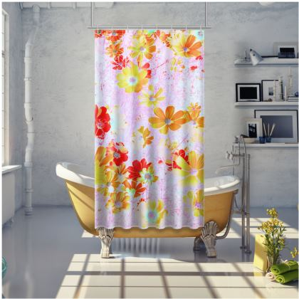 Shower Curtain Cosmos Flowers