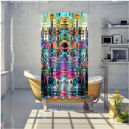 Shower Curtain Rainbow Splashes