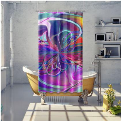 Shower Curtain Purple Flower