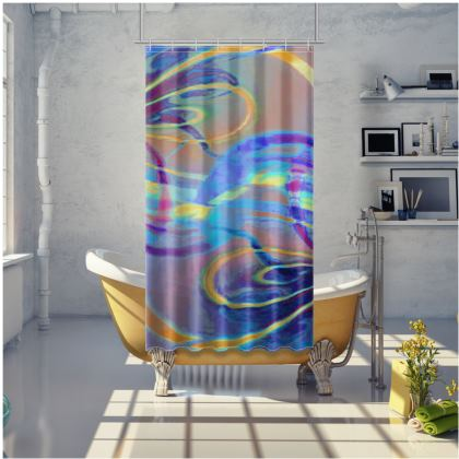 Shower Curtain Infinity Painting