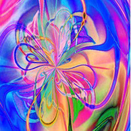 Ladies Tunic Rainbow Painting