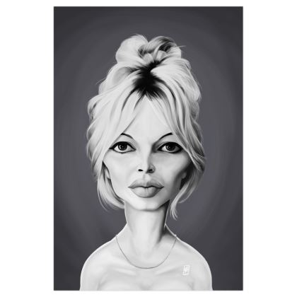 Brigitte Bardot  Celebrity Caricature Art Print