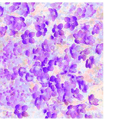 Ladies Tunic T-Shirt Purple Spring Flowers