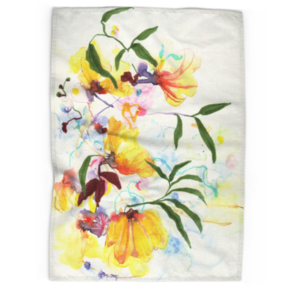 Sunshine Bouquet Tea Towels
