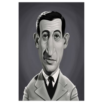 J.D.Salinger  Celebrity Caricature Art Print