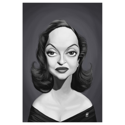 Bette Davis  Celebrity Caricature Art Print