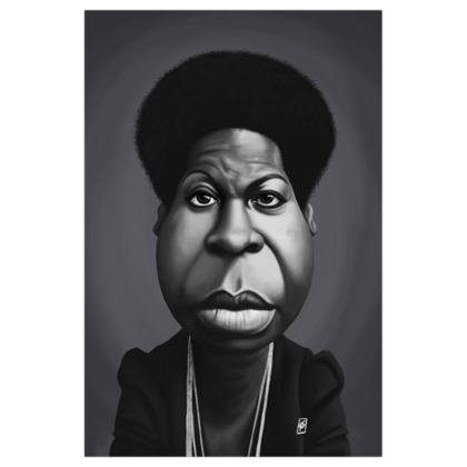 Nina Simone Celebrity Caricature Art Print