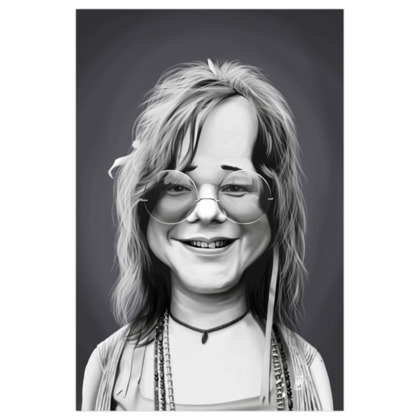 Janis Joplin Celebrity Caricature Art Print