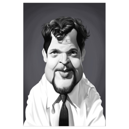 Orson Welles Celebrity Caricature Art Print