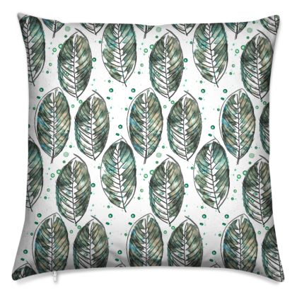Leaves print cushion