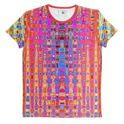 All Over Print T-Shirt Orange Pink