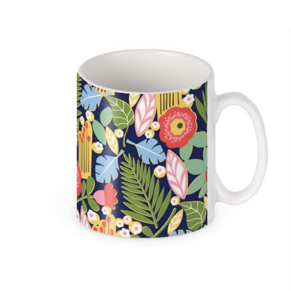 Paradise House Tropical Floral Builders Mugs