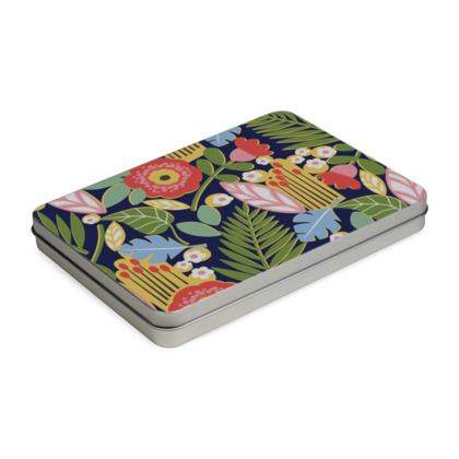 Paradise House Tropical Floral A5 Pencil Case Box