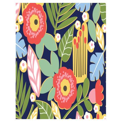 Paradise House Tropical Floral Large Tray