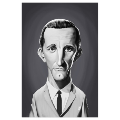 Kirk Douglas Celebrity Caricature Art Print