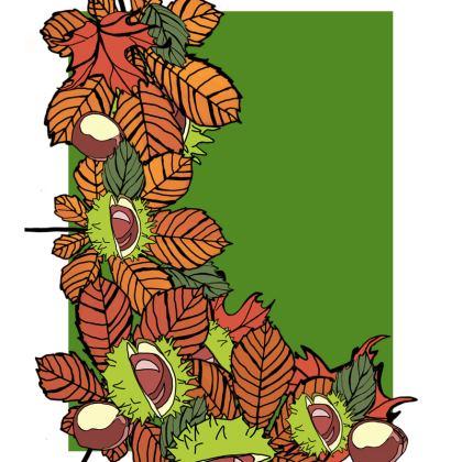 Ladies Tunic T Shirt Autumn Leaves