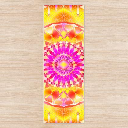 Yoga Mat Yellow Pink Mandala