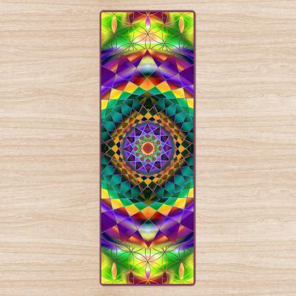 Yoga Mat Purple Green Mandala