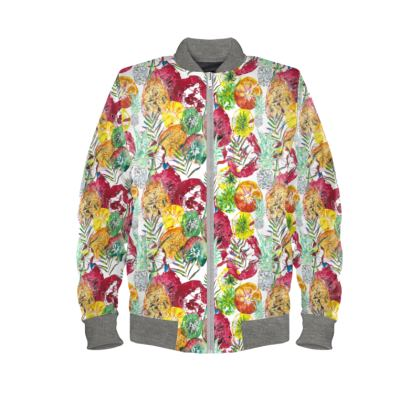 Tropical fruits bomber Jacket
