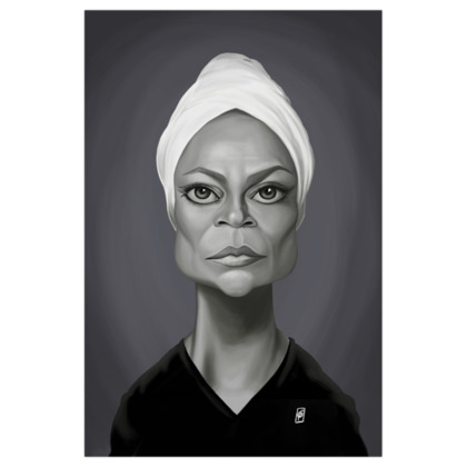 Eartha Kitt  Celebrity Caricature Art Print